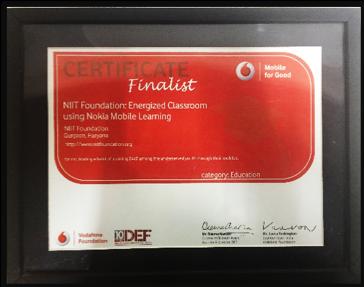 """Vodafone for Good Finalist"" 2013"
